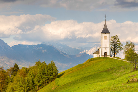 Saints Primus and Felician Church in Jamnik, Slovenia. Stock Photo - 92175074