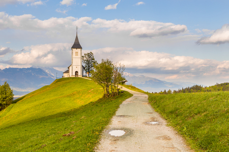Saints Primus and Felician Church in Jamnik, Slovenia. Stock Photo - 92154499
