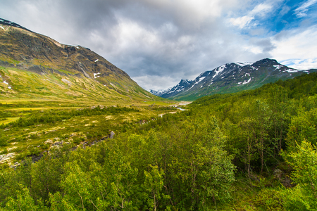 The landscape of the Norwegian national park Jotunheimen, Norway. Stock Photo