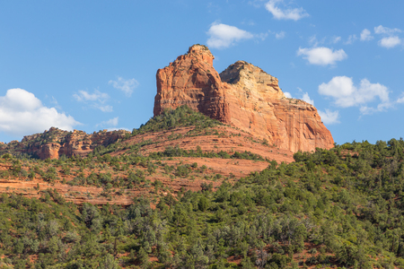 The natural beauty of the red rock canyons and sandstone of Sedona in Arizona.