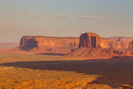 View on Merrick Butte and other formations. Navajo Park of Monument Valley. Arizona, USA