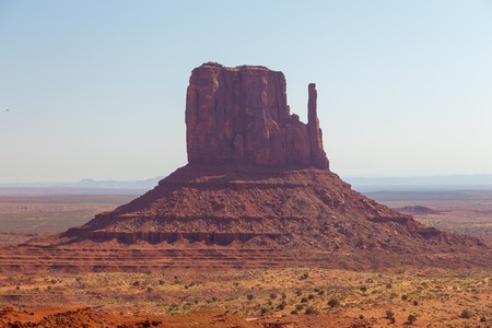 View East Mitten Butte. Navajo Tribal Park of Monument Valley, Utah, Arizona, USA