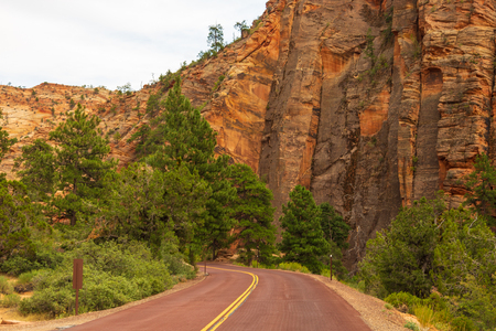 Beautiful scenery in Zion National Park. The Park is located in southwestern Utah near the city of Springdale, USA.