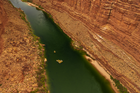 White water rafting on the Colorado River is one of the most popular among rafters in Arizona, USA.
