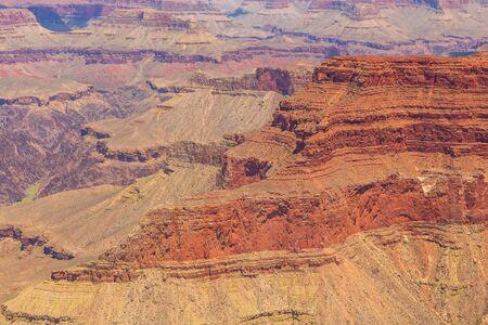 View of the Grand Canyon Colorado cliffs. National Park, Arizona, USA.