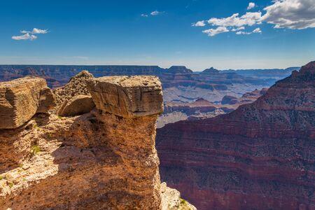 Steep slopes of the Grand Canyon, National Park, Rim Trail. Arizona, USA.