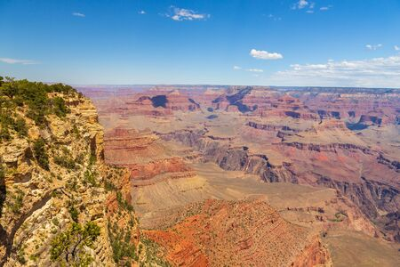 Blue sky over the cliffs of the Grand Canyon. National Park, Arizona, USA.