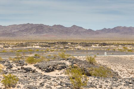 View of the mountains and desert, California, USA Banco de Imagens