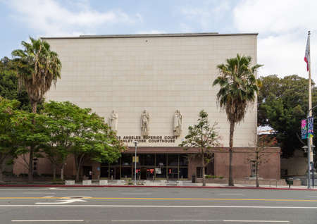Los angeles, California, USA- 11 June 2015: View of the Los Angeles Superior Court Stanley Mosk Courthouse. Redakční