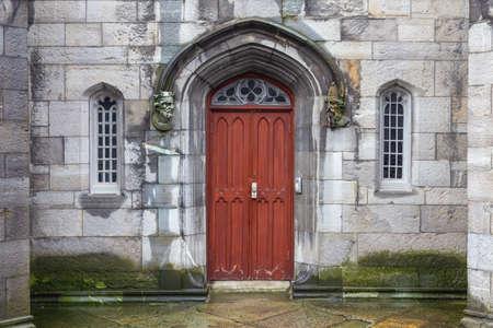 Brown classic door in Dublin, example of georgian typical architecture of Dublin, Ireland Reklamní fotografie