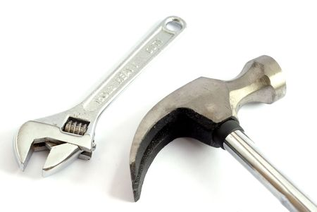trabajo: Hammer and wrench