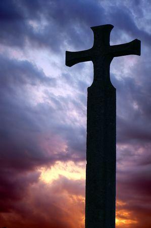 cross in sunshine
