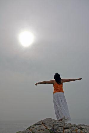 open arms girl