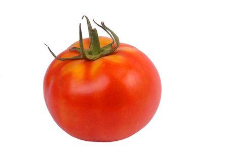 pomodoro rosso isolato su bianco Archivio Fotografico