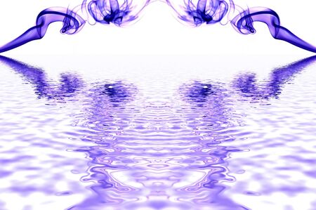 smoke draw and water reflection Stock Photo - 17069934