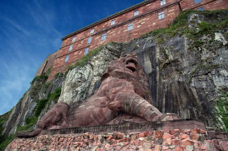 lion of Belfort in france Stock Photo