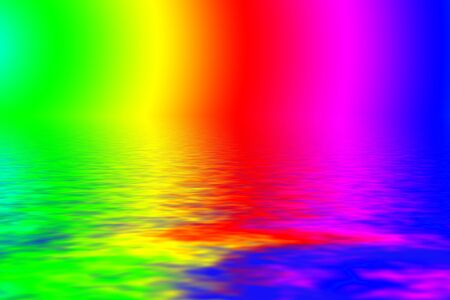 Vibrant rainbow paint water background Stock Photo