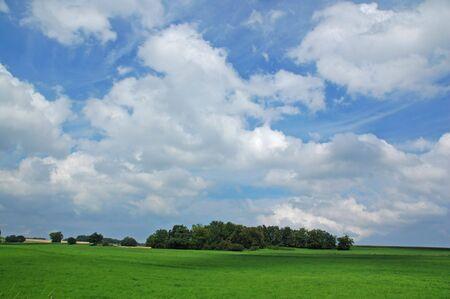 Rural Scene in porrentruy bale switzerland Stock Photo