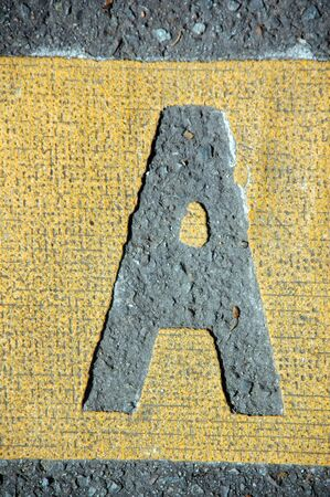 letter a in the road photo