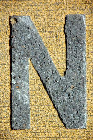 letter n in the road photo