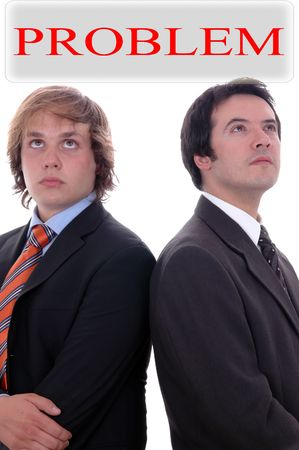 two businessman in deep white Stock Photo - 17073646