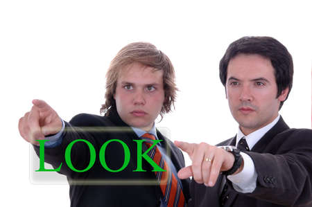 due uomini d'affari in profondit� bianco