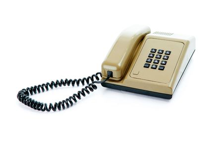 office telephone isolated on white background Stock Photo - 17075296