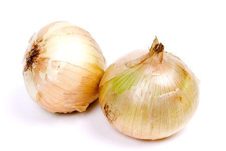 onion vegetable isolated on white background Stock Photo