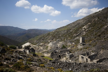 Abandoned mine workshops former mining installations in Arouca, Portugal