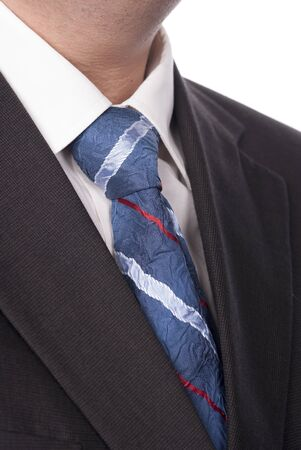 Close up of classic business necktie Stock Photo