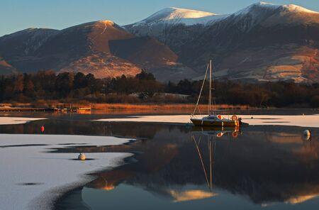 Mountain lake and reflection photo