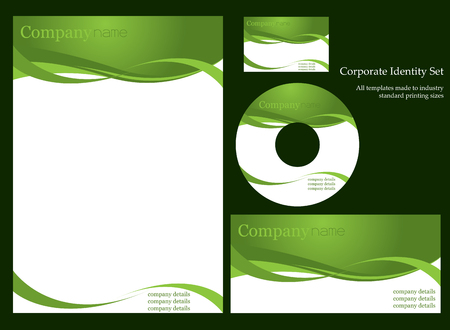 personalausweis: Corporate Business-Template-Serie  Illustration