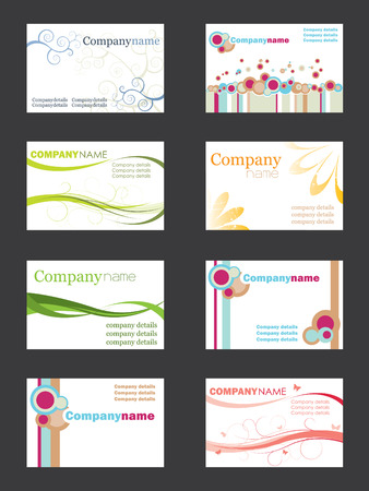 Business card set Stock Vector - 3516380