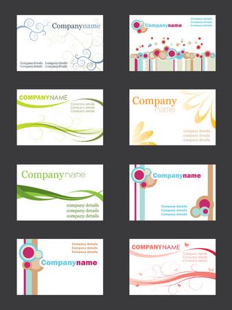 Business card set Stock Vector - 3516380