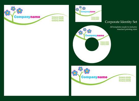 hojas membretadas: Actividad empresarial plantilla de la serie