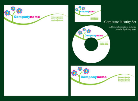 Corporate business template series Illustration