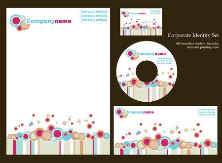 designer labels: Corporate business template series Illustration