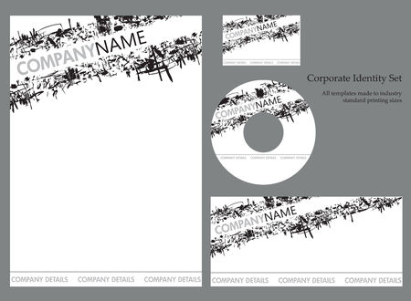 compliment: Corporate business template series Illustration