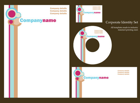 stationary set: Corporate business template series Illustration