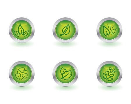 Ecology button set Vector
