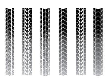 pisan: Tiro pistas, limpio y barroso conjuntos Vectores