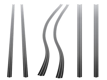 treads: Tyre tracks Illustration