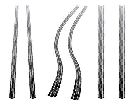 vector tyre: Tyre tracks Illustration