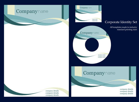 Corportate identity template Stock Vector - 3570836
