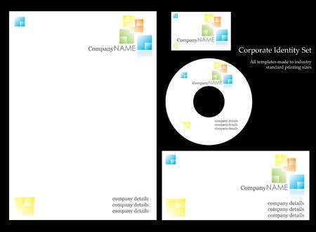 Corportate identity template Vector