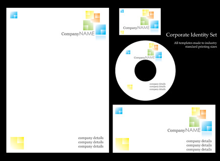 Corportate identity template Illustration