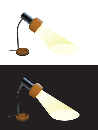 flexible business: Detailed retro desk lamp