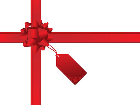 wrap vector: Christmas bow and gift card