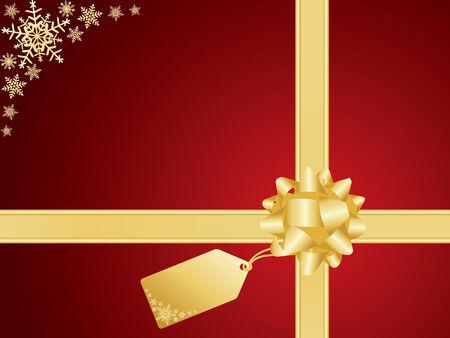 burgundy ribbon: christmas background