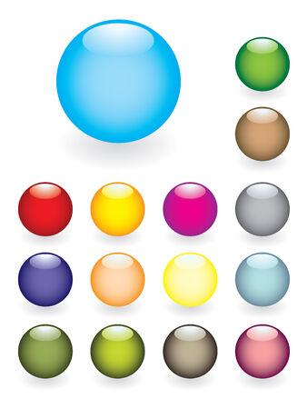 Colourful button set Vector